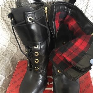 Guess Black lace up booties sz 8.5!